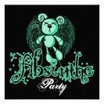 NOXIOUS TEDDY - Absinthe The Green Fairy Custom Invite