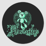NOXIOUS TEDDY - Absinthe The Green Fairy Round Stickers
