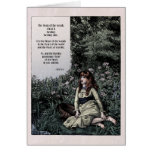 "Noyes ""Heart of the Woods"" Victorian Art Card"