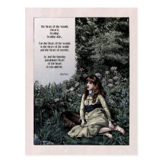 "Noyes ""Heart of the Woods"" Victorian Postcard"