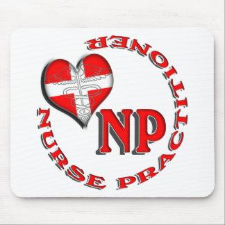 NP CIRCULAR LOGO NURSE PRACTITIONER MOUSE MAT