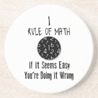 Nr 1 rule of Math Drink Coasters