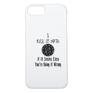Nr 1 rule of Math iPhone 8/7 Case