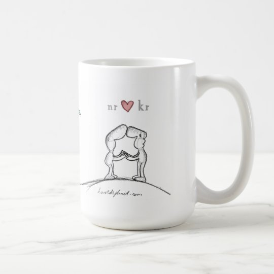nr heart kr coffee mug