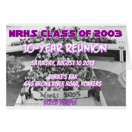 NRHS Class of 2003 10-Year Reunion Apparel Greeting Card