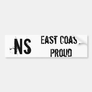 NS East Coast Proud Bumper Sticker