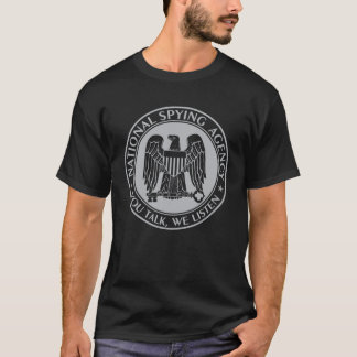 NSA: National Spying Agency Black T-Shirt