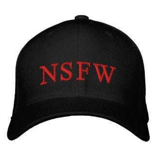 NSFW Red blk HOT CUSTOMIZE IT Embroidered Hats