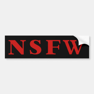 NSFW RED bumper sticker