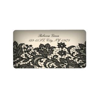 ntage black Lace beige Paris Fashion Label