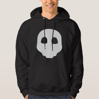 Nu Goth Gothic white on Black Catacomb Skulls Emo Hoodie