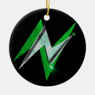 Nu Lightning Round Hanging Ornament (Green)