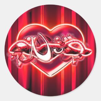 Nu Round Sticker
