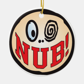 NUB Text Head Round Ceramic Decoration