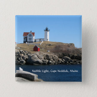 Nubble Light Cape Neddick Maine 15 Cm Square Badge