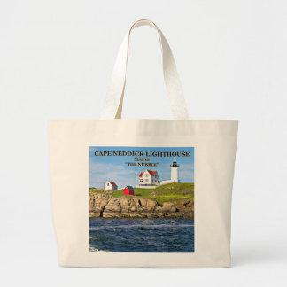 Nubble Light, Cape Neddick Maine Large Tote Bag
