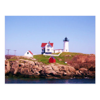 Nubble LIght House Postcard