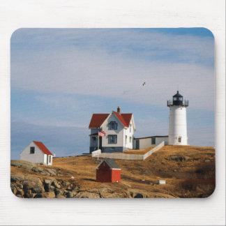 Nubble Light Lighthouse Cape Neddick Maine Mouse Mat