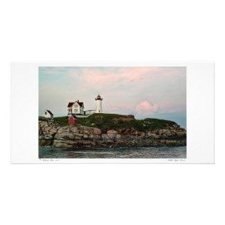 Nubble Light Sunset Photo Card