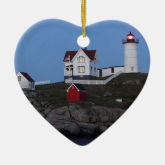 Nubble Lighthouse at Night Christmas Ornament