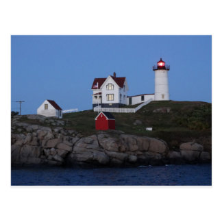 Nubble Lighthouse at Night Postcard