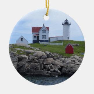 Nubble Lighthouse - Maine Christmas Ornament