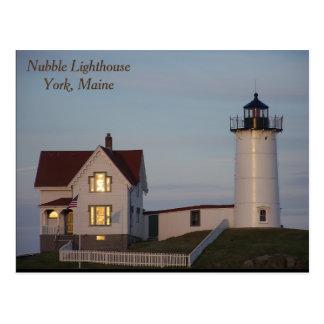 Nubble Lighthouse, York, Maine Postcard