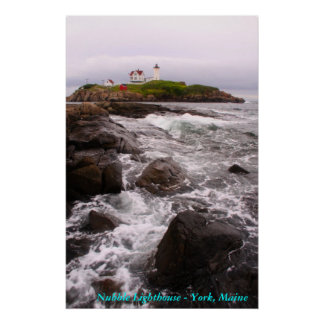 Nubble Lighthouse - York, Maine Poster