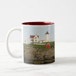 Nubble Lighthouse, York, Maine Two-Tone Mug
