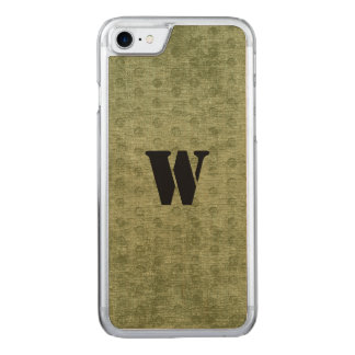 Nubby Army Green Chenille Likeness Carved iPhone 8/7 Case