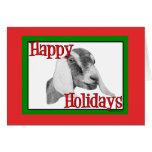 Nubian Goat Holiday Christmas Cards