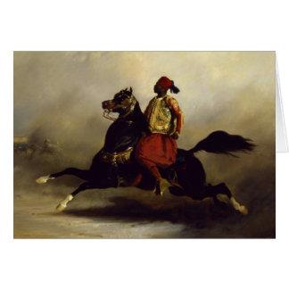 Nubian Horseman at the Gallop Card