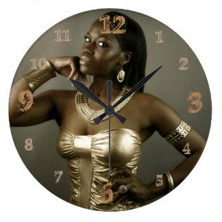 Nubian Queen of Ancient Egypt Wallclocks