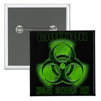 Nuclear Biohazard Caution Sign 15 Cm Square Badge