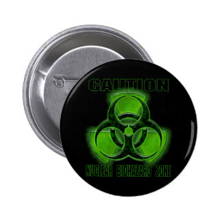 Nuclear Biohazard Caution Sign 6 Cm Round Badge