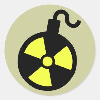 Nuclear Bomb Round Sticker
