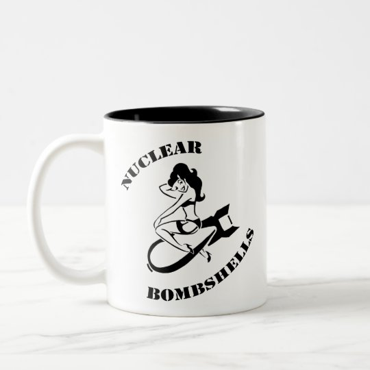 Nuclear Bombshells Caffeine Containment Unit Two-Tone Coffee Mug