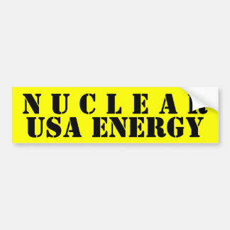 NUCLEAR BUMPER STICKER