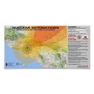 Nuclear Detonations - Los Angeles Poster