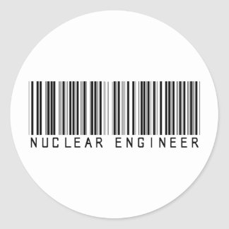 Nuclear Engineer Bar Code Classic Round Sticker