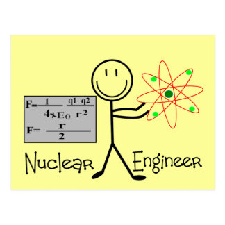 Nuclear Engineer Gifts--Stick People Humor Postcard