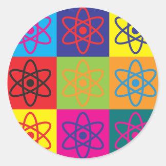 Nuclear Engineering Pop Art Round Sticker