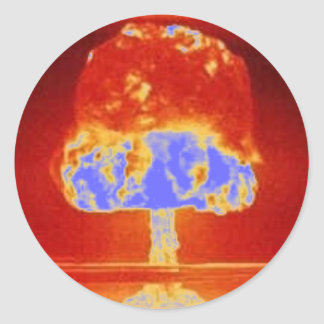 nuclear explosion classic round sticker