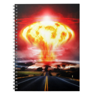 Nuclear explosion mushroom cloud illustration notebook