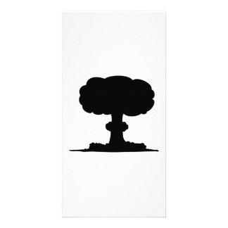 Nuclear explosion photo card template