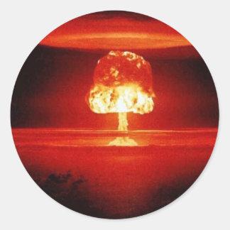 nuclear-explosion round sticker