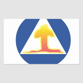 Nuclear Explosion Rectangle Sticker