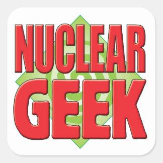 Nuclear Geek v2 Square Sticker