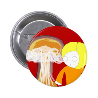 Nuclear Girl 6 Cm Round Badge