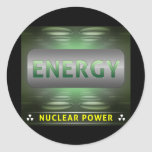 Nuclear Is Clean Energy Round Sticker